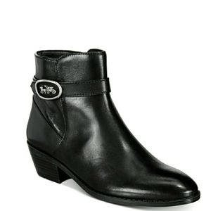 🆕️Coach Horse & Carriage Black Leather Booties